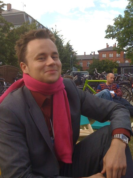 T. Seebach wearing his Reboot scarf