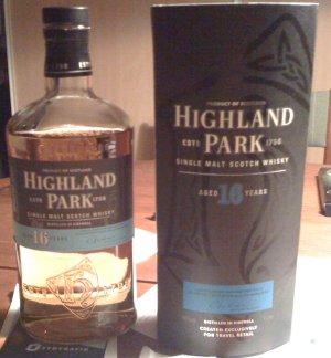 Ib let me taste his new High Park Single Malt Whisky 16 yo.