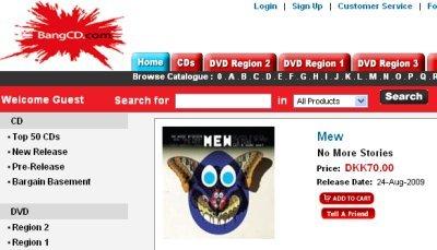 """Mew cd """"No More Stories"""" bought at BangCD"""