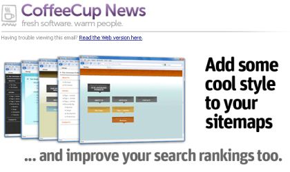 CoffeeCup Software is overselling sitemaps